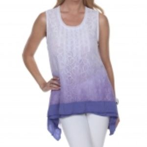 NWT GIZEL BOUTIQUE LACE OMBRE TUNIC TOP